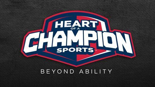 Heart of a Champion Sports Logo